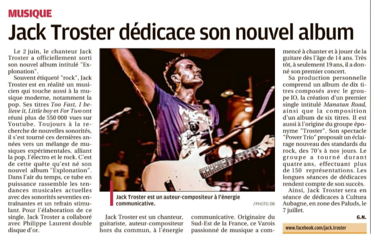 article Troster La Provence